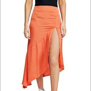 Free People Satin Skirt
